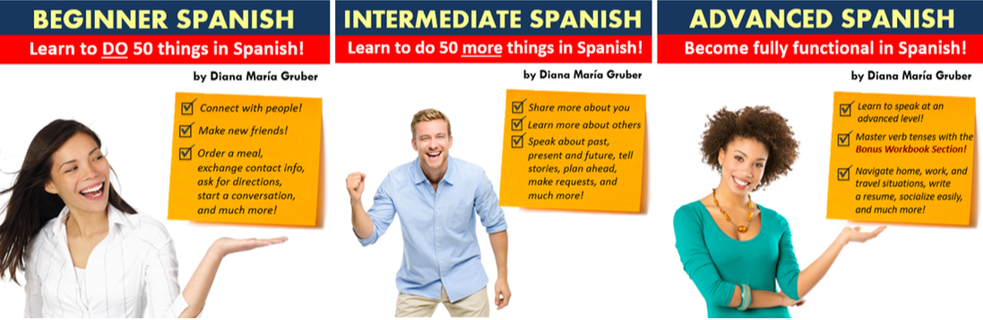 Learn Spanish online for Beginners, Intermediate, and Advanced - 3-course bundle